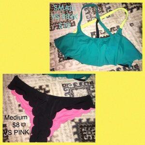 VS Pink Bikini w/ black bottoms